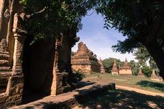 Dettaglio delle tempie antiche in Bagan, Myanmar (Birmania immagine stock libera da diritti
