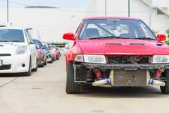 Dettaglio delle vetture da corsa e parte del motore di automobile immagine stock libera da diritti