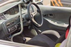 Dettaglio delle vetture da corsa e parte del motore di automobile fotografia stock