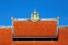 Dettaglio di architettura del tempio nel colpo di Luang Pra, Laos Fotografia Stock