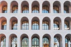 Dettaglio di architettura di Colosseum quadrato a Roma immagini stock