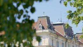 Dettaglio di architettura di monumento storico a Transferrina 4K stock footage