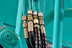 Dettaglio di attrezzatura, dell'adattatore e dei tubi Immagini Stock Libere da Diritti