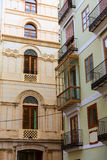 Dettaglio di buidings della via di Del Mar del calle di Valencia Immagine Stock