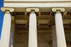 Dettaglio di costruzione dell'accademia moderna di Atene Immagini Stock Libere da Diritti