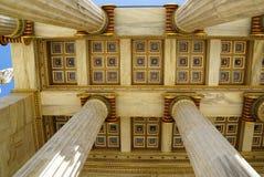 Dettaglio di costruzione dell'accademia moderna di Atene Fotografia Stock