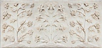 Dettaglio di decorazione del Taj Mahal Fotografie Stock Libere da Diritti