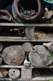 Dettaglio di deposito di legname del giardino Fotografia Stock Libera da Diritti