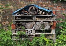 Dettaglio di deposito di legname del giardino Fotografie Stock