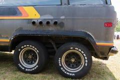 Dettaglio di Dodge Ram Van su esposizione Fotografia Stock