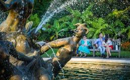 Dettaglio di fontain in Regent's Park Fotografia Stock