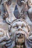 Dettaglio di Fontana del Pantheon, Italia Fotografia Stock