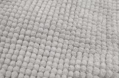 Dettaglio di Gray Fluffy Fabric Texture Background Immagine Stock Libera da Diritti