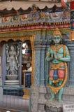 Dettaglio di Hanuman Statue sul tempio indù Immagini Stock