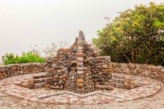 Dettaglio di Inca Bathroom antico, Ecuador, Sudamerica fotografie stock libere da diritti