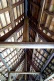 Dettaglio di Lana Style Roof Construction Fotografie Stock