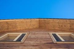Dettaglio di legno del tetto della casa Fotografia Stock Libera da Diritti
