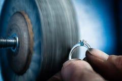 Dettaglio di lucidatura d'argento Fotografia Stock