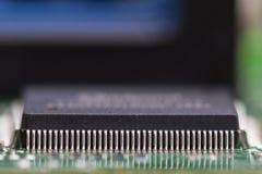 Dettaglio di mainboard del computer Fotografia Stock Libera da Diritti