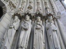 Dettaglio di Notre Dame Cathedral a Parigi, Francia Immagine Stock Libera da Diritti