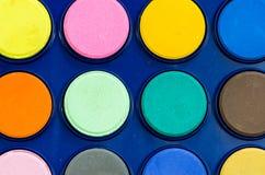 Dettaglio di nuovi acquerelli vibranti Immagine Stock Libera da Diritti