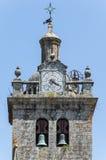 Dettaglio di pietra del campanile della chiesa, Viseu, Portogallo Fotografie Stock Libere da Diritti