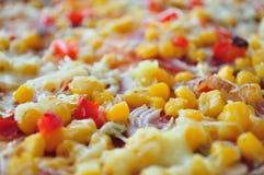 Dettaglio di pizza con cereale fotografie stock