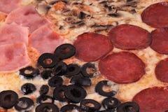 Dettaglio di Pizza Le Quattro Stagioni Fotografia Stock Libera da Diritti