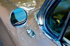 Dettaglio di retro automobile americana fotografia stock libera da diritti