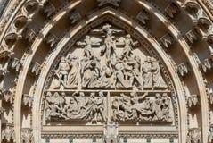 Dettaglio di San Vito Cathedral, Praga, repubblica Ceca Fotografia Stock