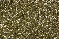 Dettaglio di scintillio di giallo dell'oro Fotografia Stock