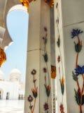 Dettaglio di Sheikh Zayed Mosque Abu Dhabi Immagini Stock