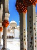 Dettaglio di Sheikh Zayed Mosque Abu Dhabi Immagini Stock Libere da Diritti