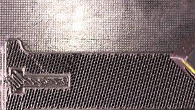 dettaglio di stampa 3D - pezzo nero di stampa 3D stock footage