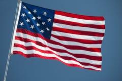Dettaglio di stelle e strisce della bandiera americana degli S.U.A. Fotografia Stock Libera da Diritti