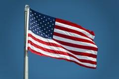 Dettaglio di stelle e strisce della bandiera americana degli S.U.A. Immagine Stock Libera da Diritti
