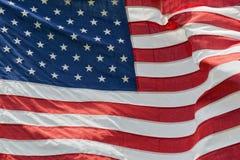 Dettaglio di stelle e strisce della bandiera americana degli S.U.A. Fotografie Stock Libere da Diritti
