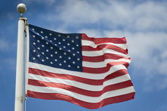 Dettaglio di stelle e strisce della bandiera americana degli S.U.A. Fotografia Stock