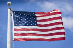 Dettaglio di stelle e strisce della bandiera americana degli S.U.A. Immagini Stock