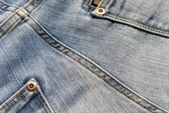 Dettaglio di struttura dei jeans Immagine Stock Libera da Diritti