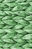 Dettaglio di struttura di Kelly Green Palm Fiber Place Mat Coarse Plaiting Rustic Grunge immagini stock libere da diritti