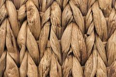 Dettaglio di struttura di Mat Coarse Plaiting Rustic Grunge del posto della fibra della palma fotografie stock