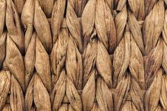 Dettaglio di struttura di Mat Coarse Plaiting Rustic Grunge del posto della fibra della palma immagini stock