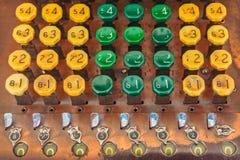 Dettaglio di un calcolatore antico Fotografie Stock