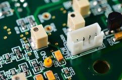 Dettaglio di un circuito stampato elettronico Fotografia Stock Libera da Diritti