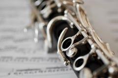 Dettaglio di un clarinetto Immagini Stock