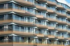 Dettaglio di un condominio moderno a Berlino Fotografia Stock Libera da Diritti