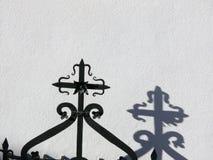 Dettaglio di un'inferriata del ferro battuto immagine stock libera da diritti