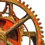 Dettaglio di un meccanismo antico arrugginito dell'orologio della chiesa Fotografie Stock Libere da Diritti