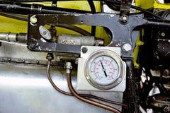 Dettaglio di un motore di vecchio biplano Stampe Immagine Stock